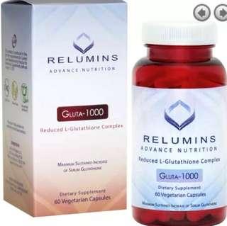 Relumins Advance Nutrition Gluta-100 Reduced L-Glutathione Complex (halal )