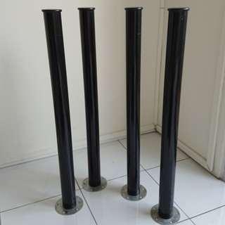 IKEA table Legs (x4) - Black