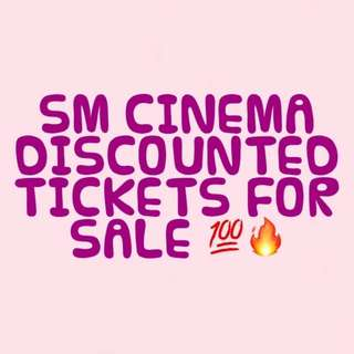 SM CINEMA DISCOUNTED TICKES!