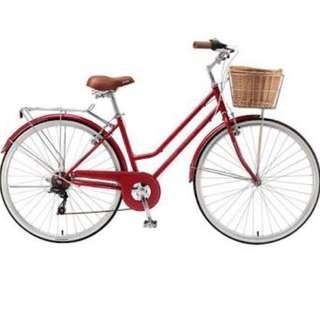 Cherry Red Vintage Bike