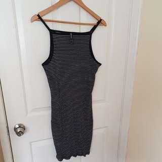 Fitted rib knit dress