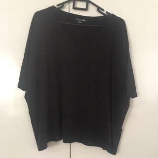 Forever 21 Black-Beaded Hanging Top