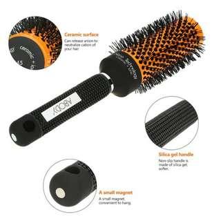 5 Sizes Hair Brush Ceramic Iron Round Comb Barber Dressing Salon Styling