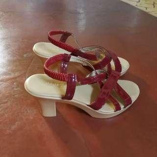 Parisian Dark Red High Heel Sandals