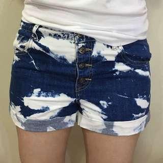 Forever21 White-Navy Shorts