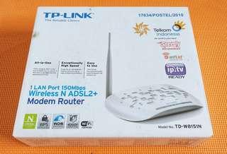 TP-LINK Modem Router Wireless N ADSL2+