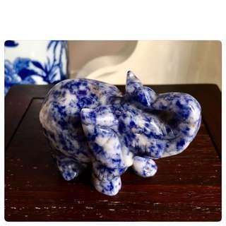 Mottled Blue Jasper Elephant