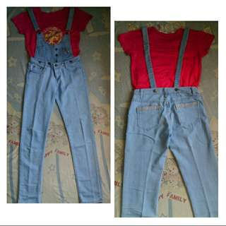Overall denim made in china