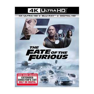 Brand New The Fate of the Furious 4K blu ray disc (sealed)