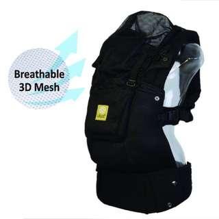 【Lillebaby】Airflow 3D透氣款 揹巾 揹帶 - 經典黑