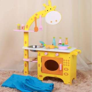 Wooden Giraffe Kitchen Playset