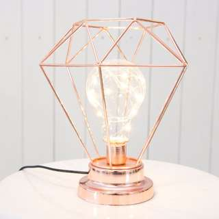 *RENTAL** Props & Deco Wedding / Events Nordic Rose Gold LED Lamp (USB)