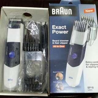 BRAUN Beard trimmer & Hair clipper 電動修剪鬍鬚/修髮器