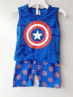Captain America tee & short