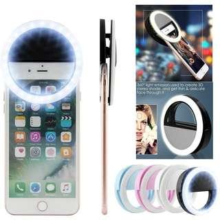 Selfie LED Ring Flash Light (Blue)