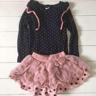 Preloved Blouse + Skirt Set