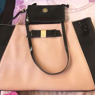 Anne Klein Medium Sized Tote Bag with Wallet(Preloved)