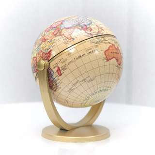 Small Golden Desk Globe **RENTAL** Props & Deco Wedding / Events