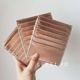 Card holder / dompet kartu 12 slots rosegold