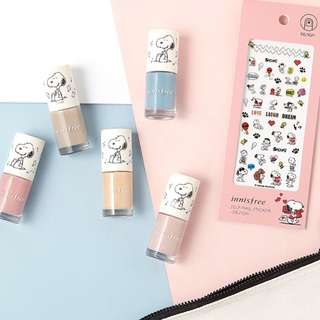 💅🏻New Limited Edition Innisfree x Snoopy Nail Colors & Stickers