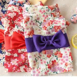 Brand New Pet Clothing ~ Chinese New Year Pet Cherry Blossom Kimono Dress 2018 (LAST 5PCS)