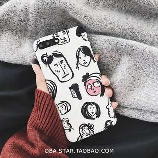 韓風文青搞笑手機殼phone case