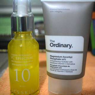 It's Skin Vitamin C Serum and The Ordinary Magnesium Ascorbyl Phosphate (MAP)