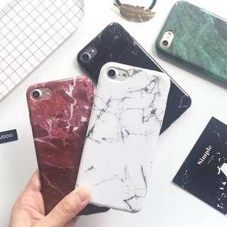 Marble Case Casing iPhone 5/5s/se/6/6s/6 Plus/7/7 Plus