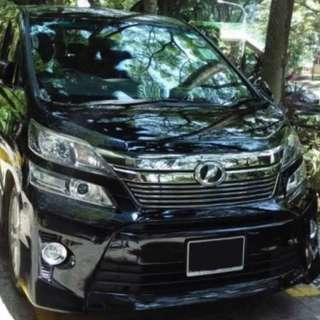 Vellfire Sewa For Wedding & Photooshot