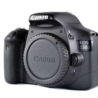 Canon EOS 550D + Battery grip +Canon 50mm 1.8