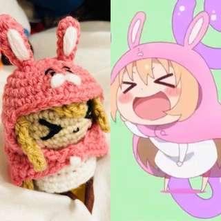 Pink rabbit Umaru chan Amigurumi doll
