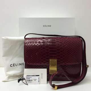 Authentic Celine Medium box bag
