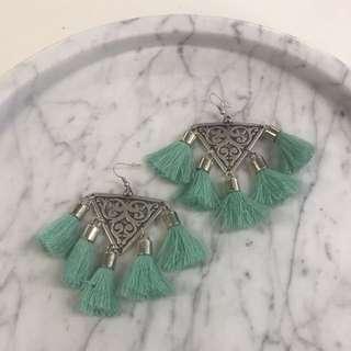 Lazurah tassel earring , Mint
