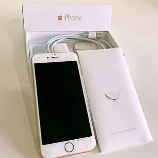 (極新)iPhone 6 64G 金色 + 犀牛盾 SolidSuit 保護殼