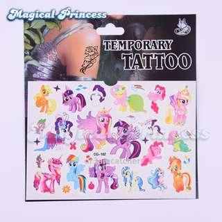 My Little Pony temporary tattoo