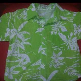 Baju Kemeja Corak Bunga