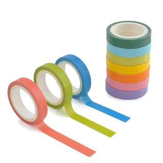 10% Discount: #0035. Rainbow Sticker Paper Adhesive Tape Stationery (FREE POSTAGE) - 1 Piece