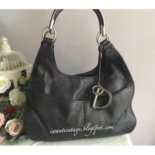 Christian Dior Leather Shoulder Bag-Black
