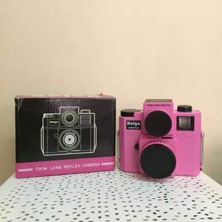 BNIB - Holga 120GTLR Twin Lens Reflex Camera in Pink