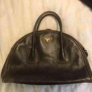 Prada Faded Leather Dr Bag