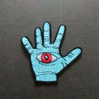 Palm Hand Eye Iron On Patch