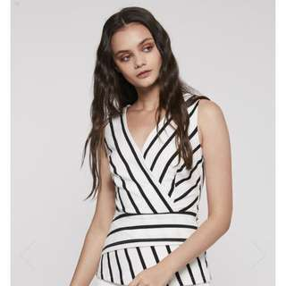 Yacht 21 PAMOLA CROSSOVER STRIPED TOP