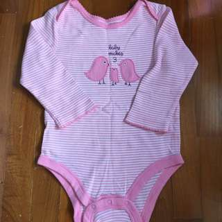 Pink Striped Gap Bodysuit