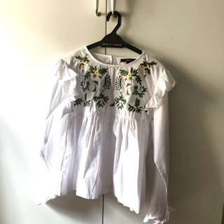 Zara Inspired Embroided Top
