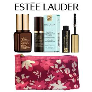 100% Authentic Estee Lauder Advanced Night Repair Synchronized Recovery Complex II 7ml + Advanced Night Repair Eye Serum Synchronized Complex II 4ml + Mascara Free Pouch