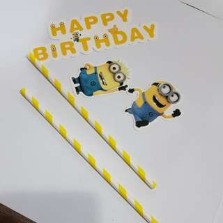 Birthday Stick 2pc - Minion