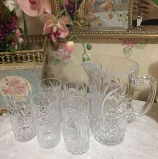 Pitcher set 6pcs king Italian