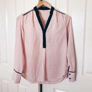 Light Pink Long-Sleeve Blouse