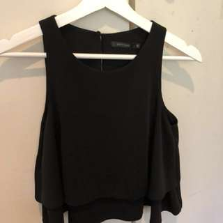 Black swing crop top NEW WITH TAGS size 6