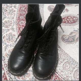 Black Soft Leather Dr Martens